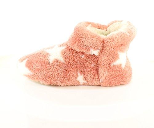 NUEVO DE MUJER ROSA SUAVE Tobillo Botín Zapatillas regalo de navidad o regalo - Rosa - GB Tallas 3-8