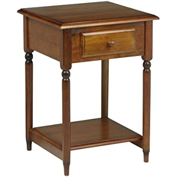 Ordinaire OSP Designs Knob Hill Collection Accent Table, Antique Cherry Finish