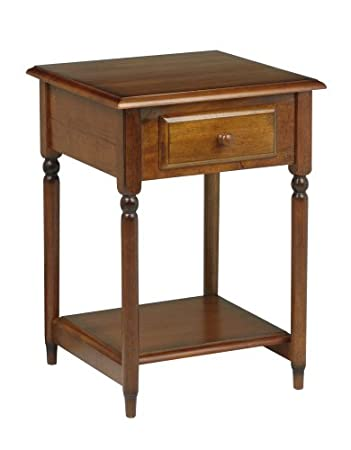 OSP Designs Knob Hill Collection Accent Table, Antique Cherry Finish
