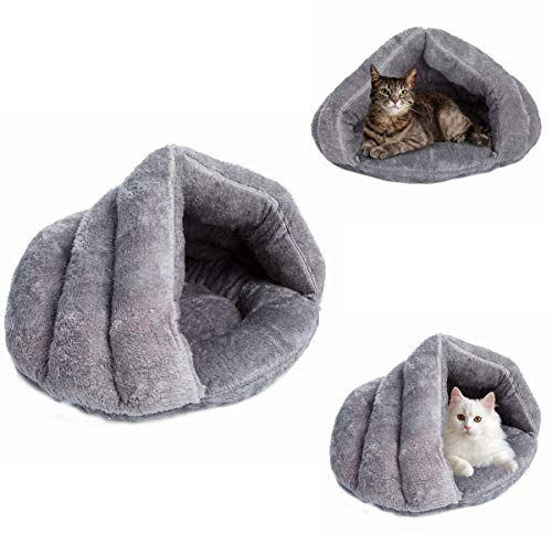 MeiLiMiYu Plush Cat Sleep Bag Zone Pet Cave Bed Cozy