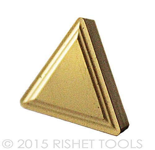 RISHET TOOLS 11608 TPMR 322 C5 Multi Layer TiN Coated Solid Carbide Inserts Pack of 10
