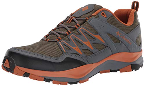 Columbia Men's WAYFINDER Outdry Hiking Shoe Nori, Bright Copper - Shoes Copper Outdoor