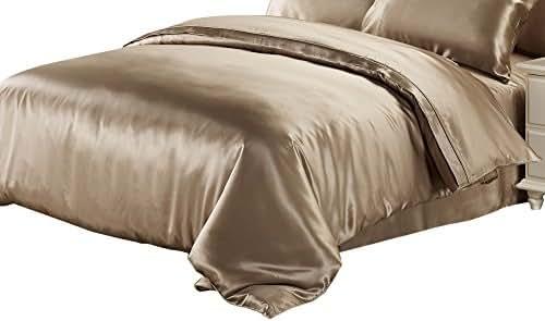 LilySilk 25 Momme Silk Duvet Quilt Comforter Cover, Full(76