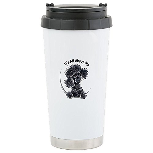 CafePress - Black Poodle Lover - Stainless Steel Travel Mug, Insulated 16 oz. Coffee (Poodle Travel Mug)