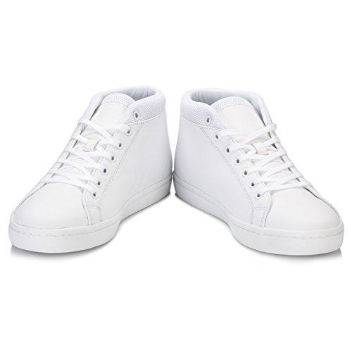 Lacoste Straightset Chukka 316 3, Entrenadores Altas para Hombre Blanco (Wht)