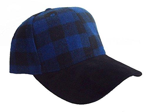 buffalo-plaid-elmer-fudd-hunting-cap-w-suede-bill-blue-black