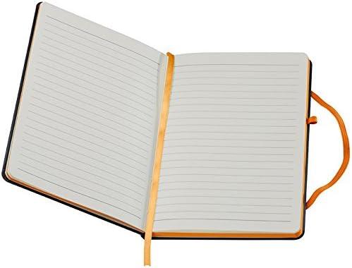 Notizbuch / DIN A5 / 160 S. / liniert / PU Hardcover / Farbe: orange