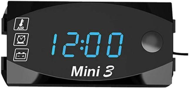 BRANDNEWS 6V-30V Moto D/édi/é Horloge /Électronique Thermom/ètre Trois-en-Un LED Montre /Électronique Universelle Grand /Écran Affichage Num/érique IP67 /Étanche Et Antipoussi/ère Classic