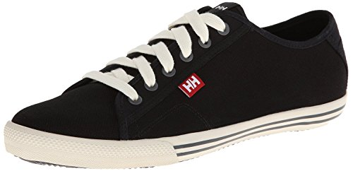 Helly Hansen Men's Fjord Canvas Shoe,Black/Off White/Birch,10 M US (Mens 990 Running Sneaker)