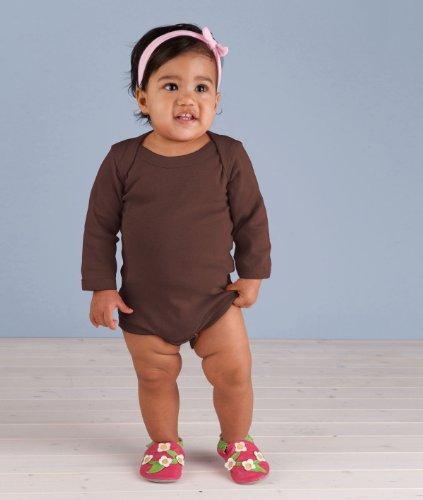 Rabbit Skins Infant Baby Rib Lap Shoulder Long Sleeve Bodysuit (Brown) (6)