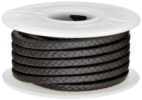 Palmetto 1382 Series Expanded PTFE with Graphite Compression Packing Seal, Dull Black, 3/4'' Square, 25' Length by Palmetto Packings