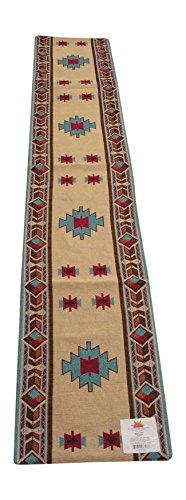 RaaKha Carrizo Southwestern Design Table Runner by Raa Kha, Desert Sand and Multi Colors, 13x72 inches