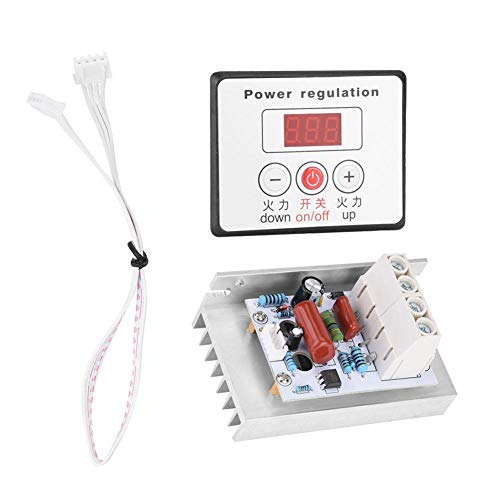 SCR Digital Voltage Regulator 10000W Adjustable Electric Motor Speed Control Dimmer Thermostat Module AC 220V