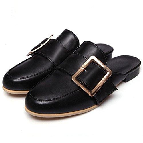 Coolcept Mujer Cerrado Mule Zapatos Black
