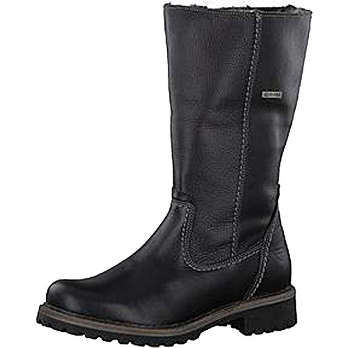 Tamaris Woms Boots Black Leather