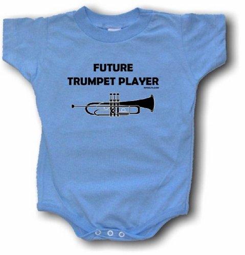 Blues Tenor Trumpet - Future Trumpet Player Logo Baby/Infant One Piece Jumpsuit 12 Month Blue