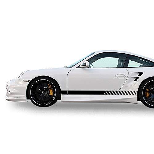 Bubbles Designs Decal Sticker Vinyl Side Sport Stripe Body Kit Compatible with Porsche 911 2012-2017 (Black)