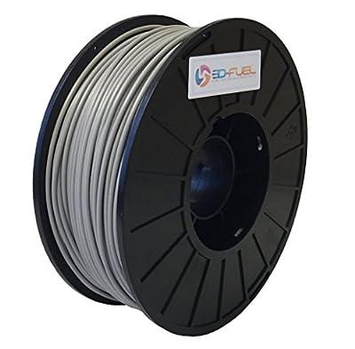 3D Fuel Printer Filament Ingeo PLA 2.85mm 1 kg Spool Dimensional Accuracy +/- 0.05mm, Steel Gray