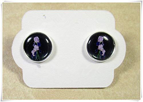 - Bearded Iris Earrings, Purple Iris Jewelry, Bearded Iris Gifts, Purple Iris Studs, Purple Flower Jewelry