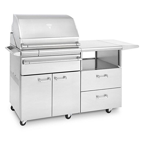 Lynx Sonoma 30-inch Stainless Steel Freestanding Natural Gas Smoker On Mobile Kitchen Cart - Lsmkm-ng ()