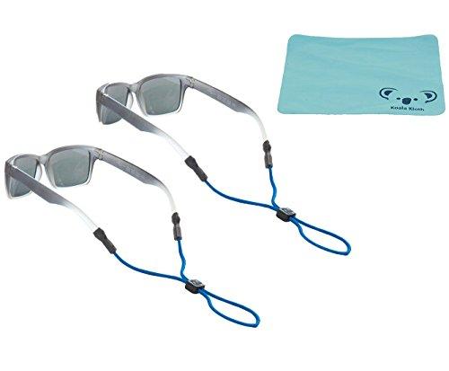 Chums Kids Rope Child Eyewear Retainer Children's Glasses Strap | Adjustable Eyeglass and Sunglass Holder for Boys and Girls | 2pk Bundle + Cloth, - Retainer Eyewear Kids