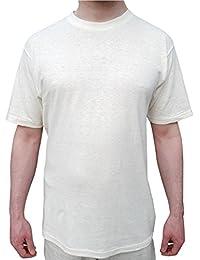 SunGrown Clothing Mens Hemp Tee Shirt (X-Large, Natural Beige)