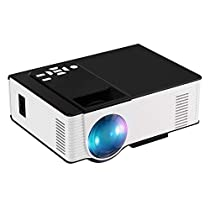 Mini Projector, Joyhero 1800Lumen HD 1080p Home Cinema Theater Projector Multimedia LCD/LED Projector HDMI/TV/DVD/AV/USB/VGA White