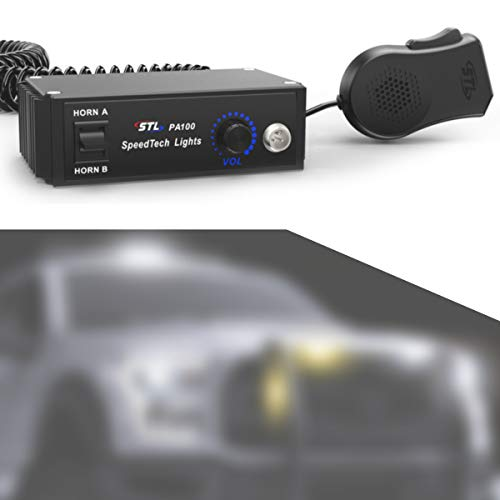 SpeedTech Lights PA 100 Watt Public Address System with Handheld PA Microphone and Dual Horn PA System