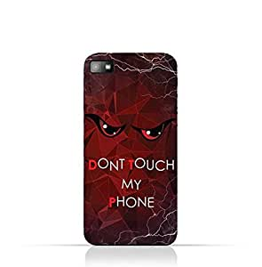 BlackBerry Z10 TPU Silicone Case With Don't Touch My Phone 3 Design