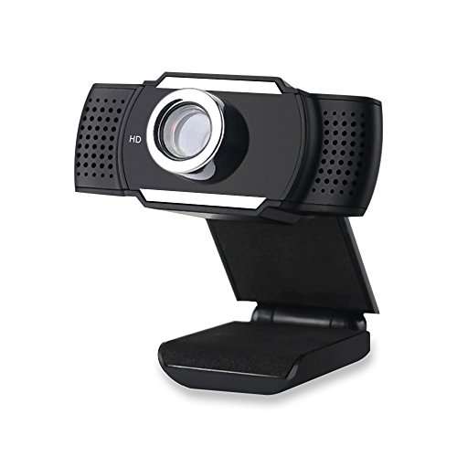 HD Webcam, Built-in Microphone, Manual Adjustable Focus, for Desktop PC Laptop Video Calling and Recording