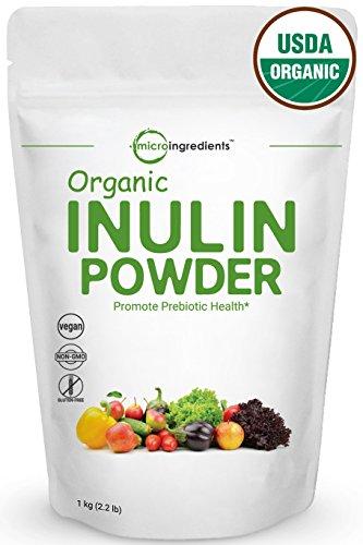 Premium Pure Organic Inulin FOS Powder (Jerusalem Artichoke) Prebiotic Intestinal Support, Colon & Gut Health (1 Kg)