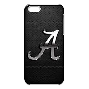 Alabama Crimson Tide Image for iPhone 5C(3D) Cell Phone Case [Non-Slip] Personalize Rugged Protective Durable Case Provide Nice Shock Absorption