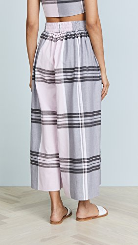 Mara Hoffman Women's Paloma French Plaid Cover-up Pants, Pink/Multi, S by Mara Hoffman (Image #3)