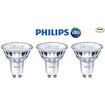Philips 465104 LED GU10 Dimmable 35-Degree Spot Light Bulb: 400-Lumen, 5000K Daylight, 6-Watt (50-Watt Equivalent), 120V MR16, 3-Pack