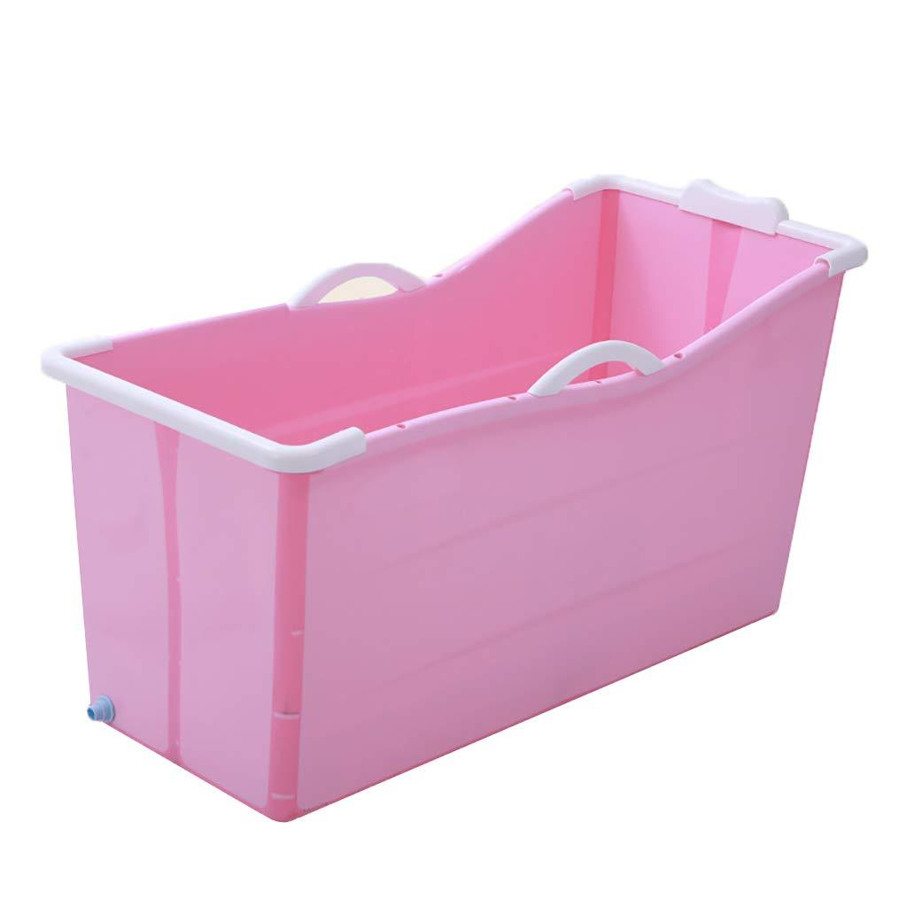 / Ba/ñera Plegable para Adulto con Funda Rosa. Tina Plegable del Hogar WENJUN Tina De Ba/ño Plegable para Adultos para Azul Color : Pink Without Cover Ba/ñera De La Piscina del Beb/é