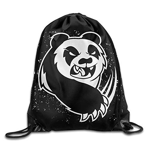 2eddc6ca517c Killer Panda Printing Design Cool Drawstring Backpack String Bag