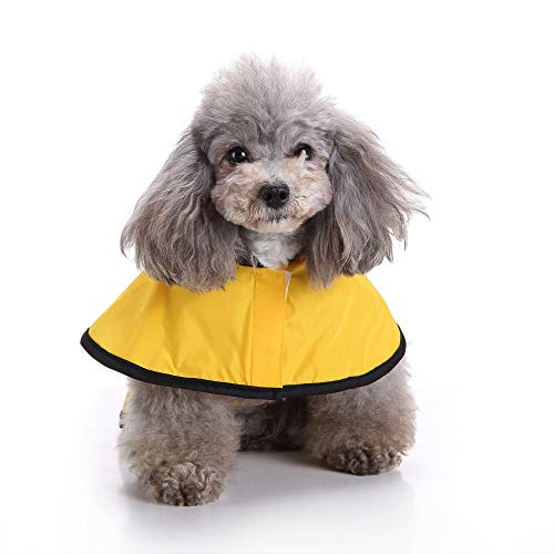 Fitfulvan Clearance! Pet Dog Hooded Raincoat Pet Puppy Jacket Outdoor Coat(Yellow,S) by Fitfulvan Pets (Image #1)