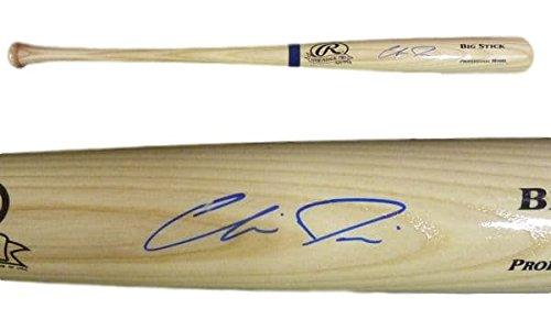 Chris Davis Autographed blonde 34 Rawlings Big Stick Baltimore Orioles bat ()