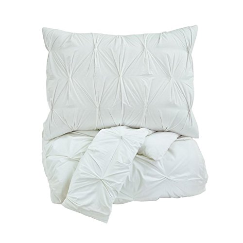 Ashley Furniture Signature Design - Rimy Comforter Set - Includes Duvet Cover & 2 Shams - Queen Size - White