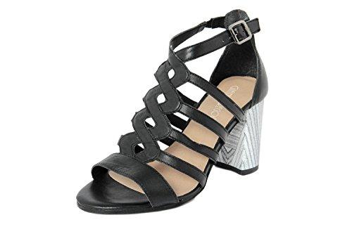 GIANNI GREGORI - Sandalias de vestir de Piel para mujer negro negro