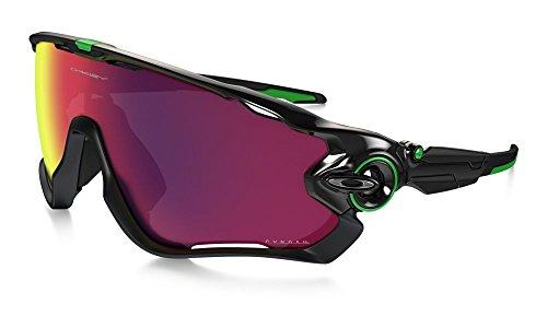 Oakley Men's Jawbreaker Asian Fit OO9270-07 Shield Sunglasses, Polished Black, 131 - Asian Oakley Glasses Fit
