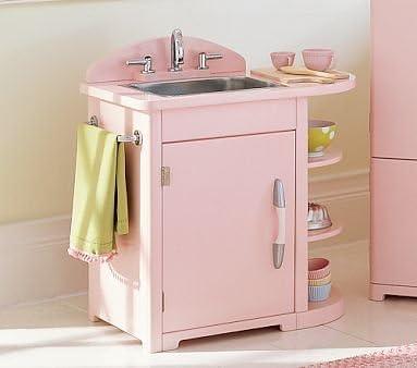 Amazon.com: Pottery Barn Kids Pink Retro Kitchen Sink: Home ...