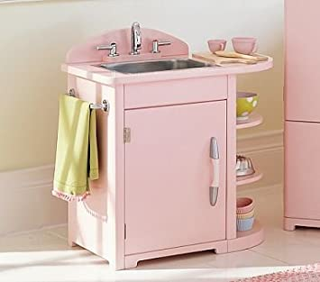 Pottery Barn Kids Pink Retro Kitchen Sink