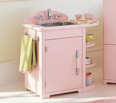 Amazon.com: Pottery Barn Kids Pink Retro Kitchen Sink: Home ...