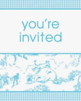 Creative Converting Nursery Toile Boy Baby Shower Invitations 25 Per Pack