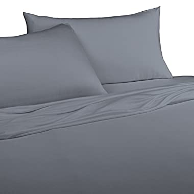 Brielle 100-Percent Modal from Beech Jersey Knitted Sheet Set, Queen, Graphite