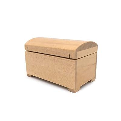 Hletgo 1:12 Escala Dollhouse Miniatura Muebles Hecho a Mano Caja de Almacenamiento de Madera Treasure Doll House Accesorios Regalo para niños: Juguetes y juegos