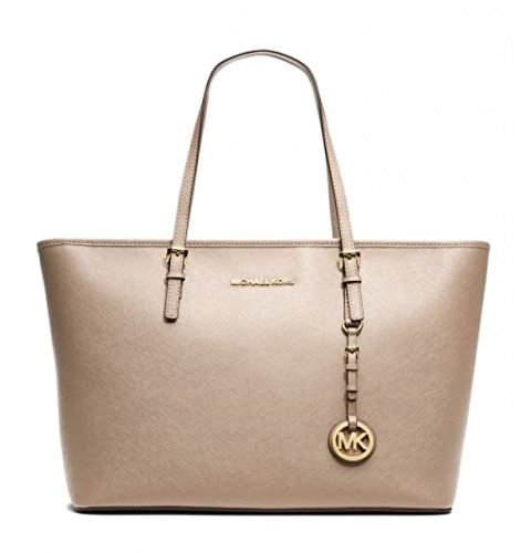 MICHAEL KORS JET SET MEDIUM TRAVEL TOP ZIP TOTE DARK KHAKI [並行輸入品] B01H003QKI