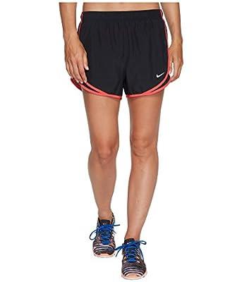 NIKE Women's Dry Tempo Running Short (Small, Black/Red)