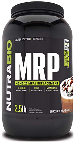 NutraBio MRP Chocolate Complete Meal Replacement Powder